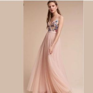 BHLDN ball gown with embroidery
